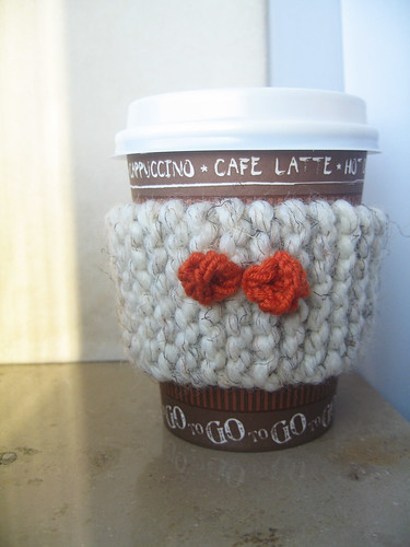 knitted coffee sleeve