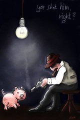 Right? (simki68) Tags: man art mobile illustration digital painting pig drawing character mobil smoking pigs brushes guns draw watkins fingerpainting fingerpainted iphone mobileart mobilart artmobile fingerpainters iphoneart brushesapp simki68
