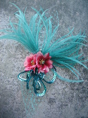 Bon Bon, Hair Accessories by Ann Marie Popko (Ann Marie Popko) Tags: wedding costume glamour colorful feathers bellydancer rockabilly bridal burlesque whimsical hairaccessories veiling popko fascinators