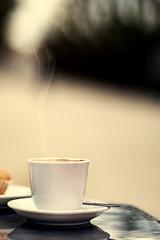 nice and warm in the morning (Angelo Gonzlez) Tags: coffee cafe smoke plato taza magdalena padron interests spongecake cuchara ag2r interes pocillo angelogonzalez