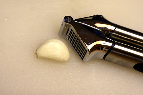 garlic with press