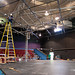 Renovations began on the main stage theater in the University Commons.
