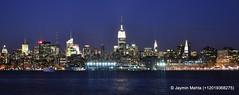 Midtown, New York City (jayminmehta) Tags: newyorkcity newyork skyline dawn jerseycity downtown manhattan nj midtown empirestatebuilding atnight exchangeplace jaymin newyorkcityinthenight newyorkcityindark jayminmehta