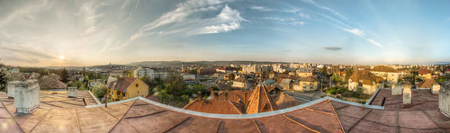 View from the rooftop towards Cluj city centre
