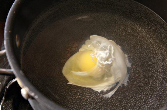 Pouched Eggs w/ Refried Beans