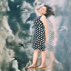 Right through me... (~lala~(Lisa)) Tags: portrait sky white selfportrait black me birds clouds self bench hair myself nikon dress wind spirit breath dream lisa sp 365 breathe breeze visualpoetry polkadot selfie breathless d90 365days i breathofheaven nikond90 ~lala~ rightthroughme project36612010 365days2010