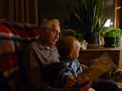 Silas with his Great Grandpa Randall