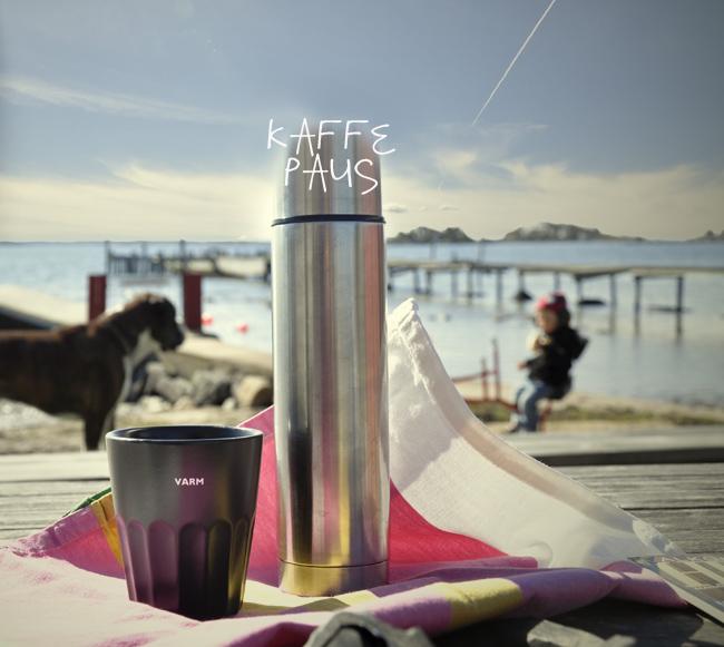 kaffepaus vid stranden
