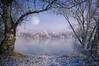 Draw Me A Moon (Philippe Sainte-Laudy) Tags: trees moon lake snow nature water forest landscape bravo outstandingshots bratanesque platinumheartaward philippesaintelaudy nikond300 bisousforanewdesktopxx