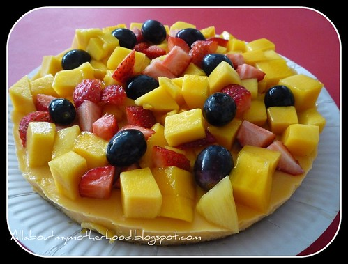 Mango Pudding Yogurt Cake