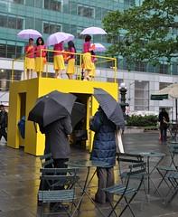 Walking in the Rain (Trish Mayo) Tags: newyork women manhattan gothamist performanceart bryantpark kategilmore walkthewalk thebestofday gnneniyisi