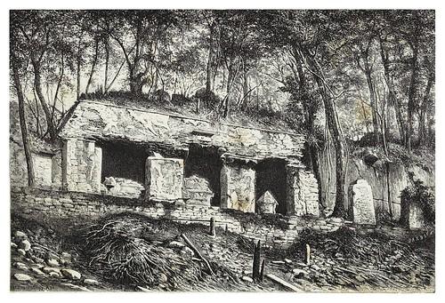 018-Fachada exterior del palacio de Palenque-Mexico-Les Anciennes Villes du nouveau monde-1885- Désiré Charnay