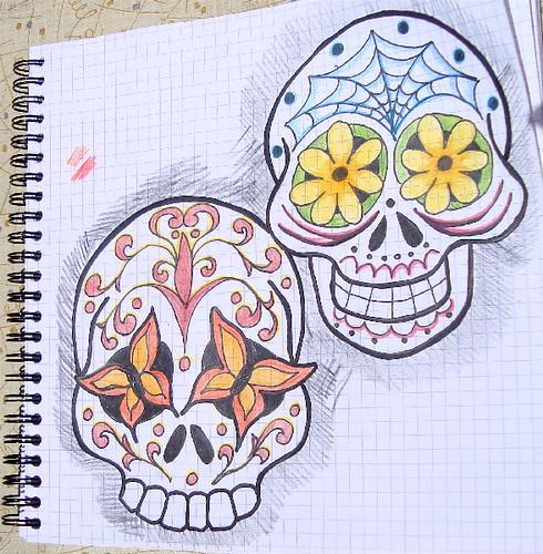 Skulls Drawing