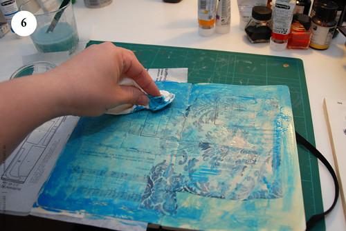 Artbook background with acryl, Step 6