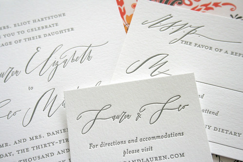 Elegant Calligraphy Wedding Invitations