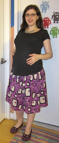 Finished: My Reversible Shirred Skirt!