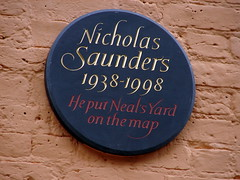 Photo of Nicholas Saunders black plaque