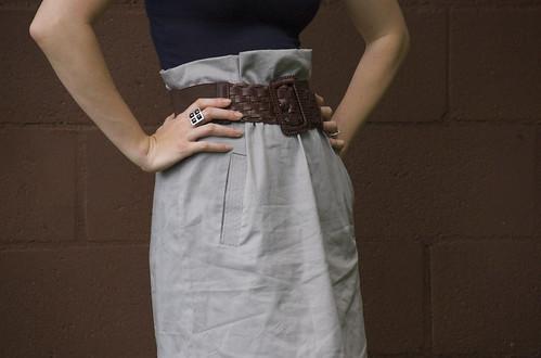 Paper bag waist