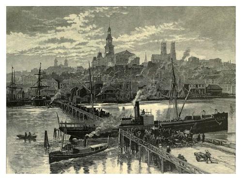 002-El puerto Darling desde el puente Pyrmont-Sydney-Australasia illustrated (1892)- Andrew Garran