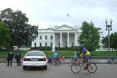 We rode past the White House