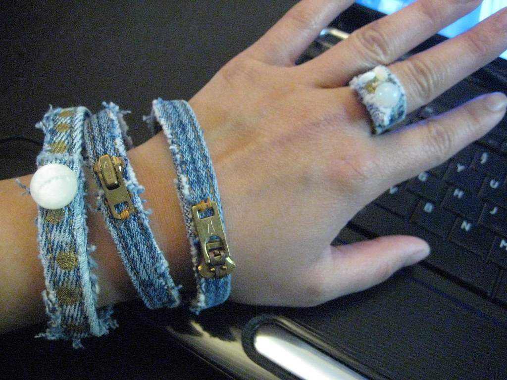 Jean Bracelets and Ring, Artsy et Vintage, Moncton, New Brunswick