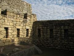 machu picchu walls, clouds