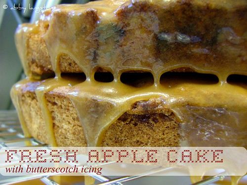 Fresh Apple Cake with Butterscotch Icing