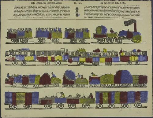 De ijzeren spoorweg - Le chemin de fer  1833-1880