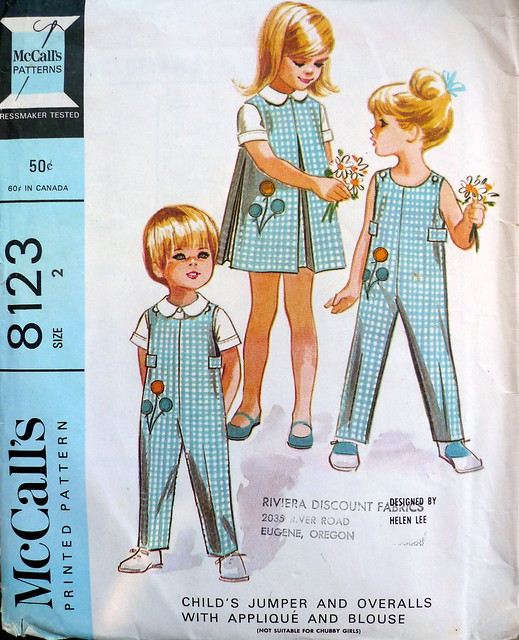 McCall's 8123, Helen Lee pattern from 1965