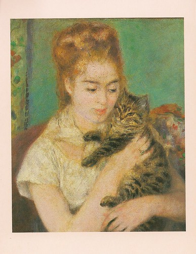 Woman With A Cat Postcard