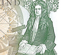 Isaac Newton One Pound Note back