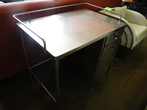 Mid-Century Doctor's Steel Desk