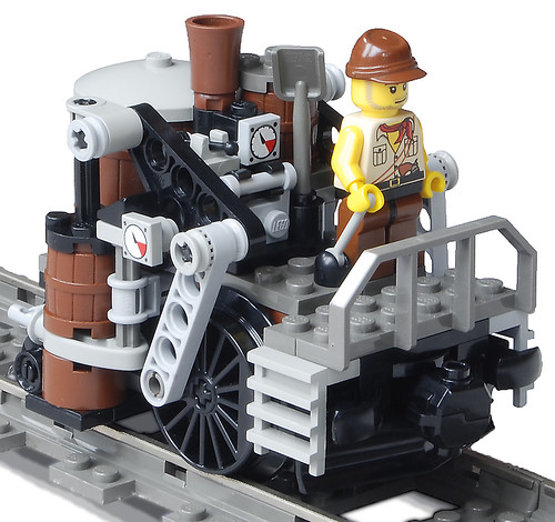 """Shunter-Class"" Light Steam Railtug Mk. XLIX (front) by Ɍaillery"
