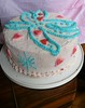 Winx Inspired Cake (Sugar Daze) Tags: birthday pink blue cake hearts wings winx minicupcake