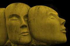 Faces in the dark (scorpion (13)) Tags: friends black art walk sunday rainy statuen gr8photo