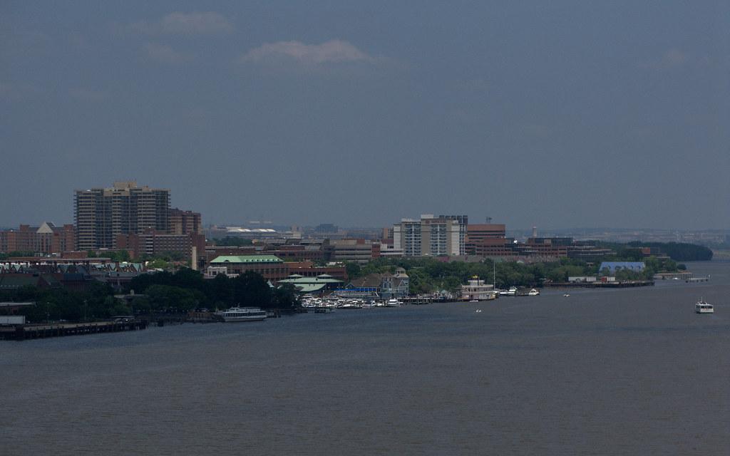 Oldtown Alexandria view from Woodrow Wilson Bridge, DC