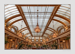 Grand ball room / restaurant (Roy Prasad) Tags: sanfrancisco california travel vacation food usa restaurant hotel piano palace chandelier marble palacehotel glassceiling royprasad