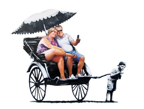 Banksy rickshaw2