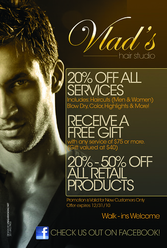 Hair Salon Grand Opening Flyer http://www.uniquedesignz.net/vlad-hair-salon/vlad-hair-salon-fair-lawn-new-jersey-flyer-design/