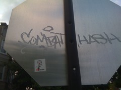 (theres no way home) Tags: chicago graffiti sticker combat hash yob blago itsblago