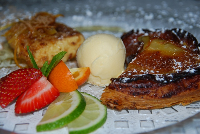 Tarta Fina de Manzana y Leche Frita