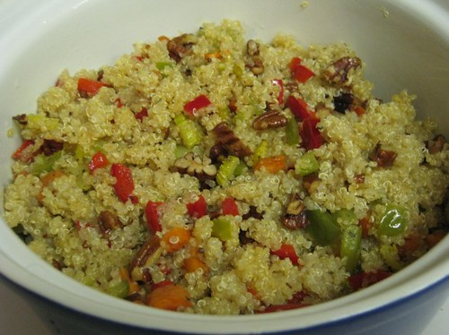 Chaya's Comfy Cook: Quinoa with Vegetables and Pecans