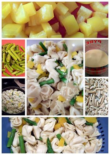 Tortellin-Asparagas Salad Collage