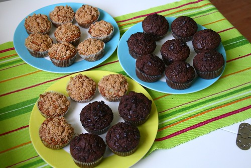Chocolate Muffins / Apple Streusel Muffins