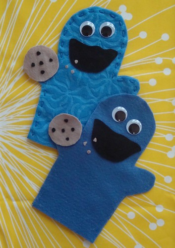 cookie monster puppets