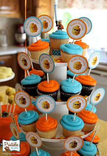 Lego Birthday Cupcakes