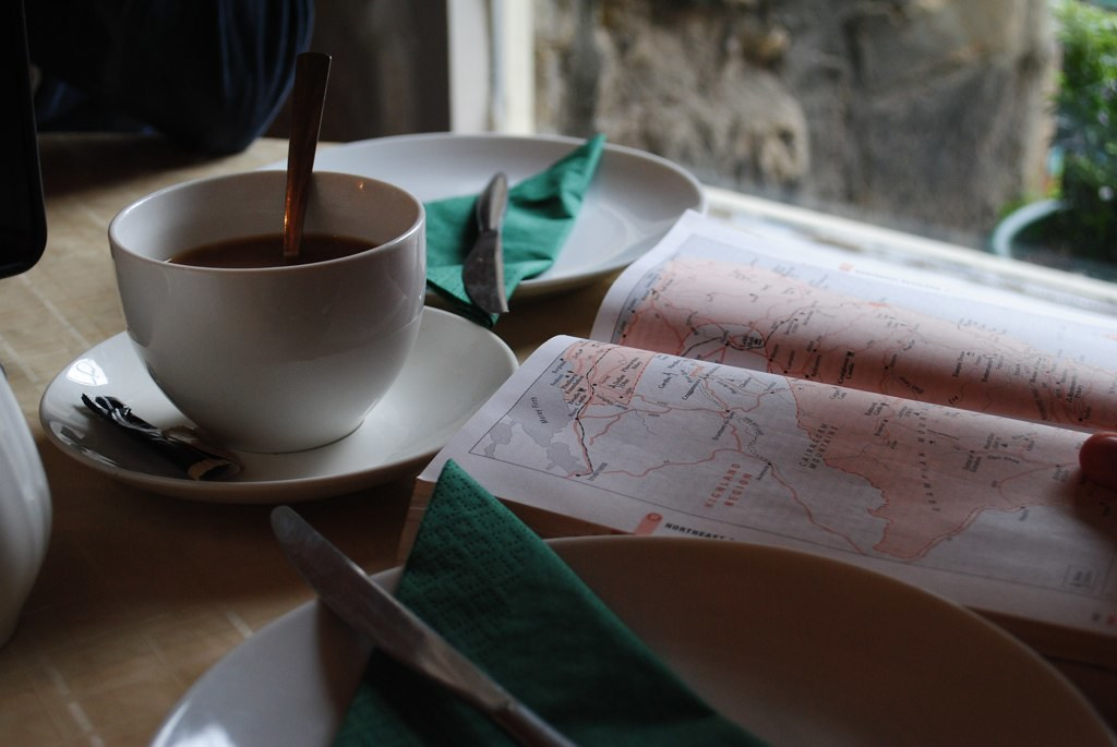 afternoon tea + maps