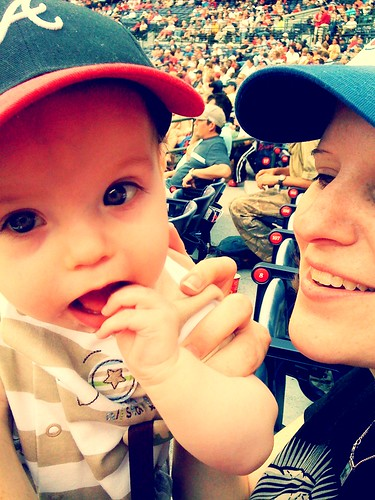 Milo & Jill at the ballgame