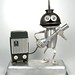 Sid Viscous 529 - Found Object Rocking Robot Assemblage Sculpture By Brian Marshall