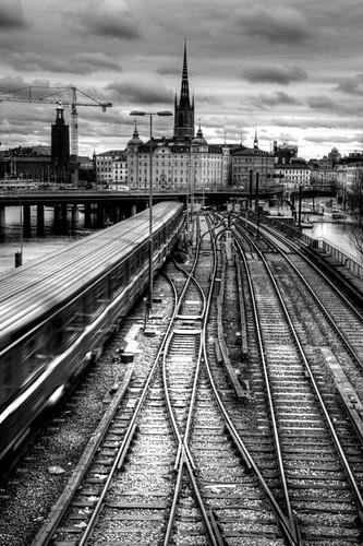 Stockholm. Railroads. Estocolmo. Vías de tren.